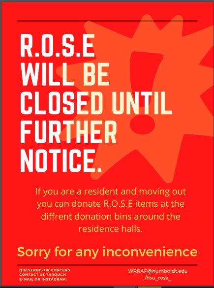 ROSE Closed until further notice