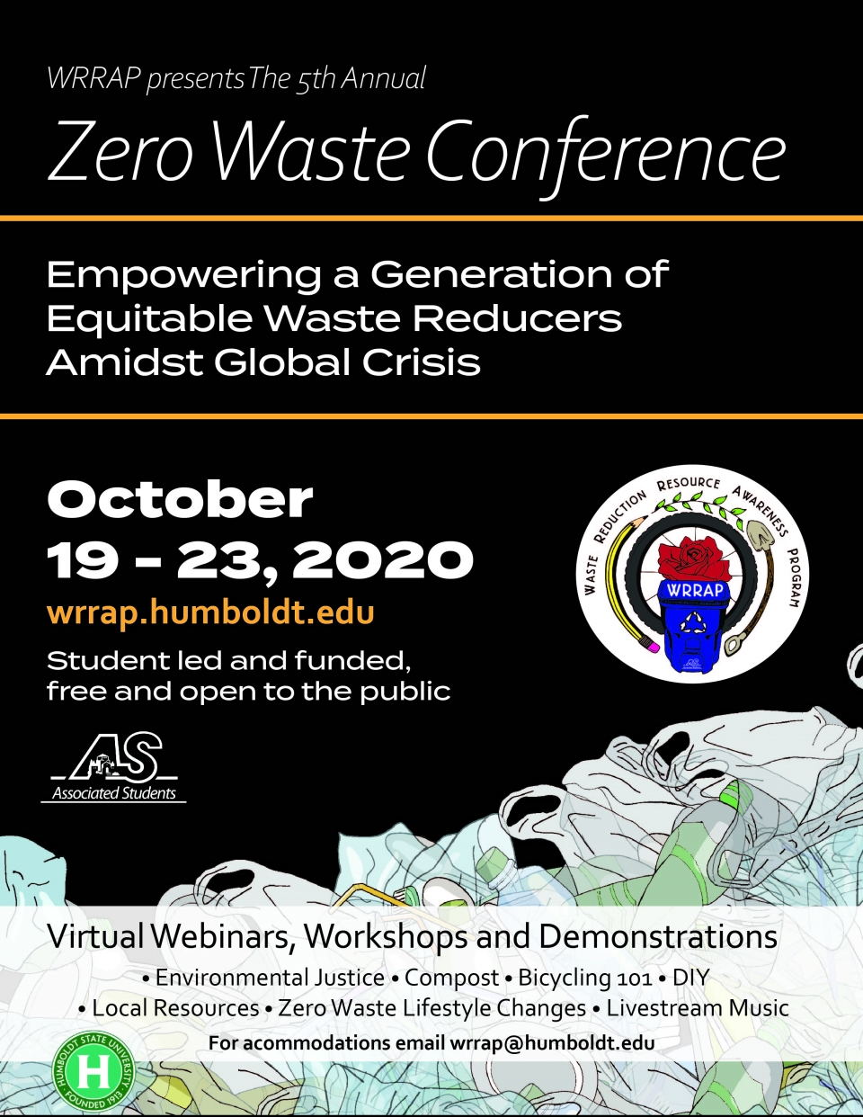 Zero Waste Conference announcement flyer, October 19-23, 2020