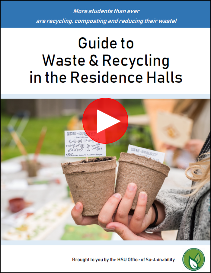 Click on image to watch short video on waste & recycling in the residence halls